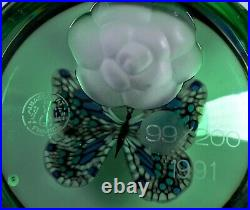 Orig. BACCARAT Paperweight presse-papiers BUTTERFLY limit. 99/200 Zertifikat