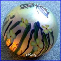 Ornate Orient & Flume Butterfly and Flowers Paperweight 1977