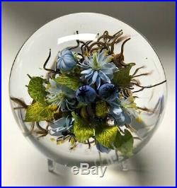 PAUL STANKARD Paperweight Honey Bee'Mask' Botanical with Red Teardrop 9-16-2001