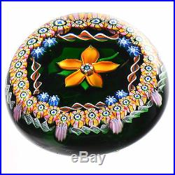 PERTHSHIRE 1983A Amber Flower With Millefiori Canes and Torsade L/E