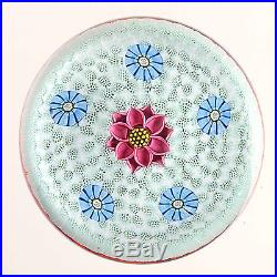 PERTHSHIRE 1988B Flower and Millefiori Canes on Honeycomb Ground. Ltd. Ed