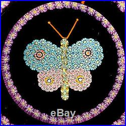 PERTHSHIRE 1989B Millefiori Butterfly withGarland, Ltd. Ed