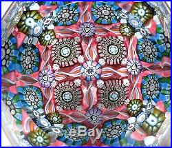 Perthshire 1991 Pp134a Faceted Ltd Ed Intricate Millefiori Paperweight With Cert