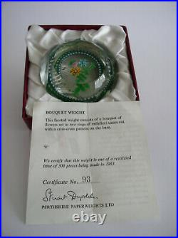 PERTHSHIRE BOUQUET PAPERWEIGHT 1983E BOX / CERTIFICATE No 93 OF ONLY 194
