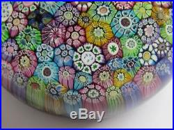 PERTHSHIRE CLOSE PACKED MILLEFIORI PAPERWEIGHT DATED 1973 (Ref3427)