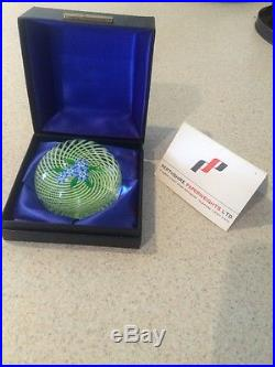 PERTHSHIRE GLASS PAPERWEIGHT 1976 Forget Me Not Limited In box With Coa