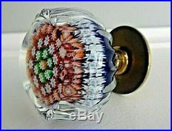 PERTHSHIRE Glass Millefiori Paperweight Style DOOR PULL KNOB Hardware P Cane
