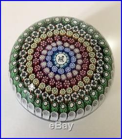 PERTHSHIRE PAPERWEIGHT MILLEFIORI, PICTURE CANE, LTD EDITION PP 235 SIGNED