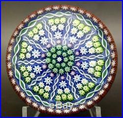 PERTHSHIRE Patterned Millefiori & Twist Cane Glass Paperweight, Apr 2.25H x 3W