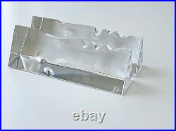 Pair Mid-Century Baccarat Crystal Face EncounterDesigned by R. Rigot Small