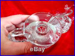Pair of Bart Zimmerman Signed Handled Pen/Candle Holder Paperweight Art Glass