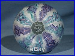 Paperweights Contemporary Alloway Art Glass 3.25 inch Dichroic 9 Cane #659