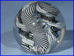 Paperweights Contemporary Art Glass Alloway 3.05 inch Dichroic Quadmania #357