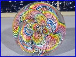 Paperweights Contemporary Art Glass Alloway 3.15inch Dichroic Quadmania #365