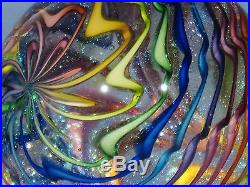 Paperweights Contemporary Art Glass Alloway 3.47inch Dichroic Rainbow #667