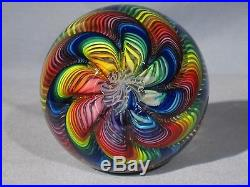 Paperweights Contemporary Art Glass Alloway 3.4inch 10 Color Raelynbow #127
