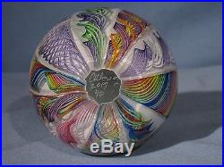 Paperweights Contemporary Art Glass Alloway 3.53inch Dichroic End of Day #40