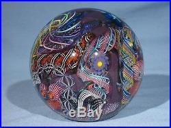 Paperweights Contemporary Art Glass Alloway 3.67inch Dichroic Psychedelic #258