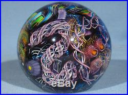 Paperweights Contemporary Art Glass James Alloway 3.05inch Psychedelic #251
