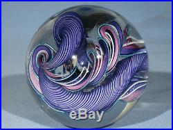 Paperweights Contemporary Art Glass James Alloway 3.15 inch Quadmania #352