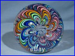 Paperweights Contemporary Art Glass James Alloway 3.23in. Dichroic Rainbow #656