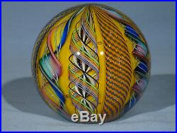 Paperweights Contemporary Art Glass James Alloway 3.24 inch End Of Day #26