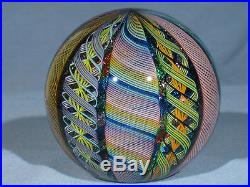 Paperweights Contemporary Art Glass James Alloway 3.25 inch End Of Day#31