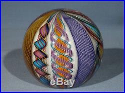 Paperweights Contemporary Art Glass James Alloway 3.28 inch End Of Day #30