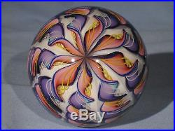 Paperweights Contemporary Art Glass James Alloway 3.35inch Dichroic 9 Cane #684