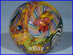 Paperweights Contemporary Art Glass James Alloway 3.38inch Psychedelic #256