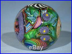 Paperweights Contemporary Art Glass James Alloway 3.52inch Psychedelic #255