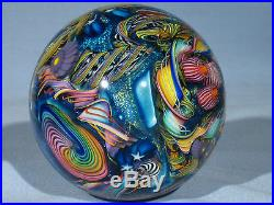 Paperweights Contemporary Art Glass James Alloway 3.53inch Psychedelic #252