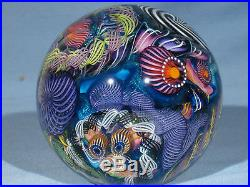 Paperweights Contemporary Art Glass James Alloway 3.55 inch Psychedelic #257