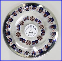 Parabelle Glass Paperweight Concentric Design with Pansy Cane Center 2 3/4