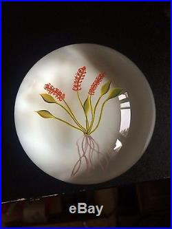 Paul Stankard 1974 Red Plantain paperweight