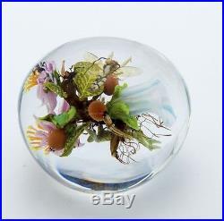 Paul Stankard Original Glass Paperweight Rare Early Piece 1999 Best Offer