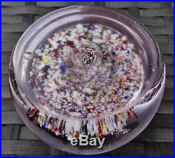 Paul Ysart Army Medic Button Weight Frit Millefiori Paperweight