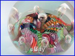Paul Ysart Harlequin Ribbons Harland Paperweight Briefbeschwerer