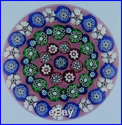 Paul Ysart Paperweight, Concentric pattern on pink ground