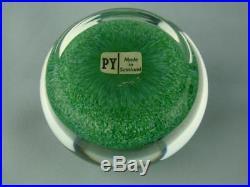 Paul Ysart Paperweight,'harland' H Cane, Presentation Box, Paper Label & Info