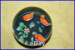 Paul Ysart Three Ducks on a Pond Paperweight RARE