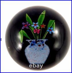 Paul Ysart Very Rare Vase Art Glass Paperweight