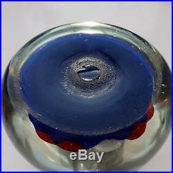 Paul Ysart closepack millefiori glass paperweight/ presse papiers