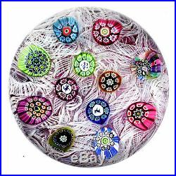 Perthshire 1972 PP13 Scattered Millefiori Canes on Lace over Amethyst Ground