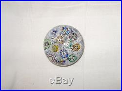 Perthshire 1973 Glass Paperweight with spaced Millefiori