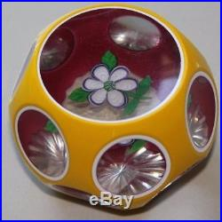 Perthshire 1977 C anemone triple overlay paperweight 248