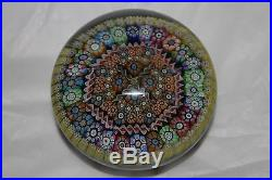 Perthshire 1984 Paperweight Set With Millefiori Canes and Twists