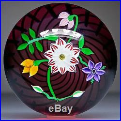 Perthshire 1988E Floral Bouquet Studio Art Glass Paperweight