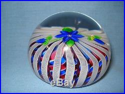 Perthshire 1995 Special Limited Edition Paperweight Blue Flower No 119/350