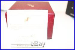 Perthshire 1996 Crown Paperweight Faceted Top- Box And Certificate